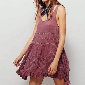 RED Free People Trapeze Slip Dress